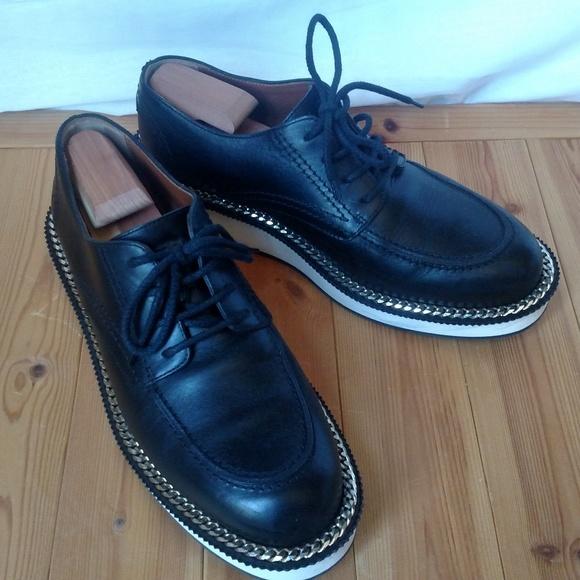 Men's GIVENCHY Black Rottweiler Leather Platforms